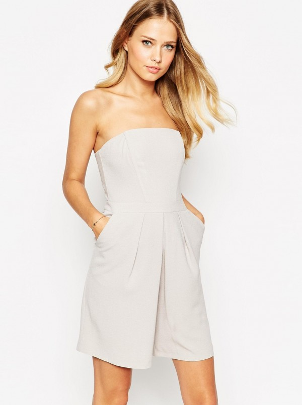 Pleat Front Playsuit
