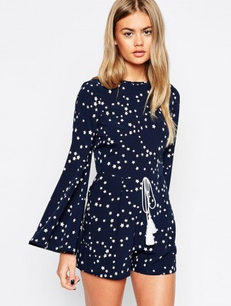 Star Print Playsuit